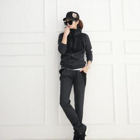 休閒外套+運動褲套裝 (2 colors)