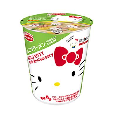 【新商品】ハローキティ45周年お祝い とんこつラーメン