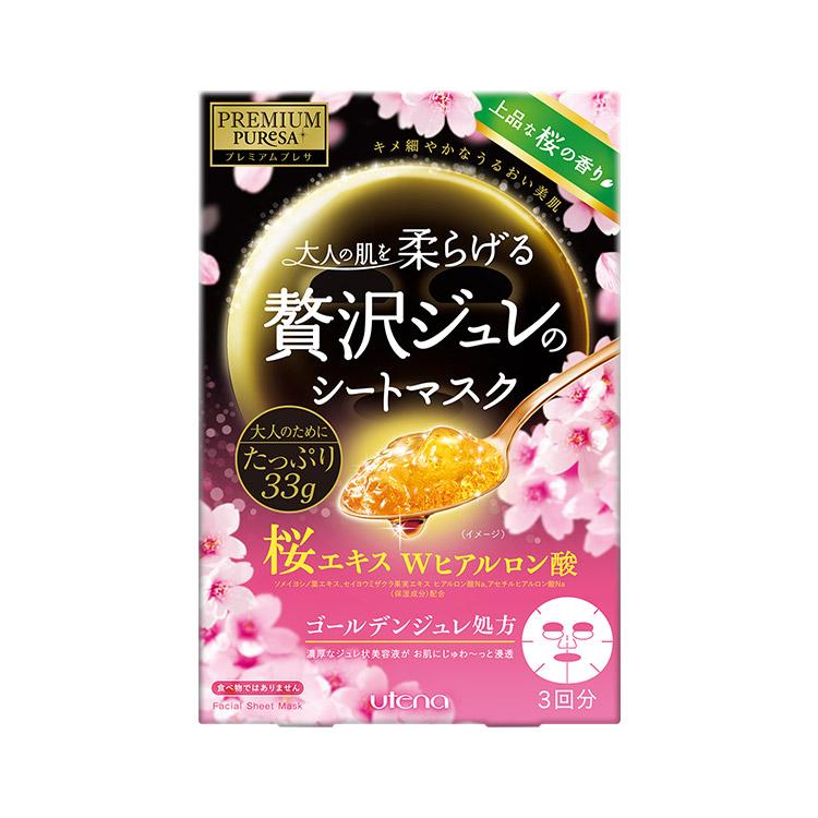 UTENA 佑天蘭 果凍面膜 3片(櫻花)