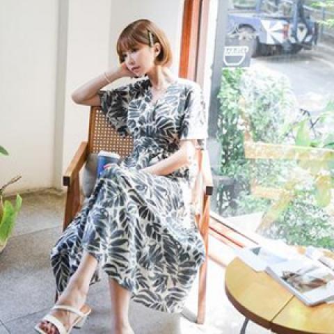 韓國新品﹗印花連身裙