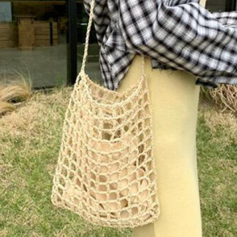 夏日爆款﹗悠閒魚網編織袋