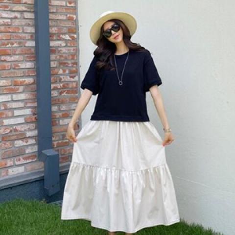 韓國新品﹗假兩件 連身裙