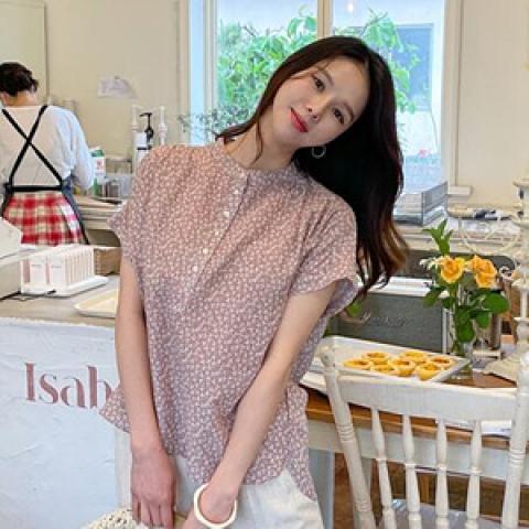 韓國新品﹗碎花開襟襯衫