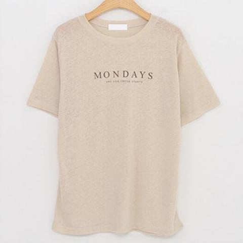 韓國新品﹗簡約 印字T-shirt