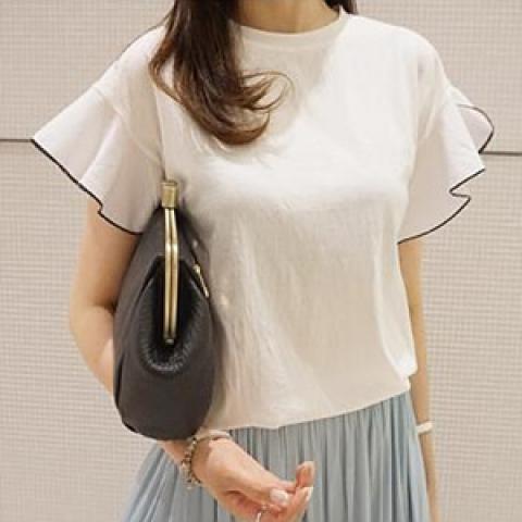韓國新品﹗天使袖襯衫
