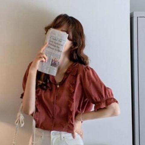 韓國新品﹗文青開襟襯衫