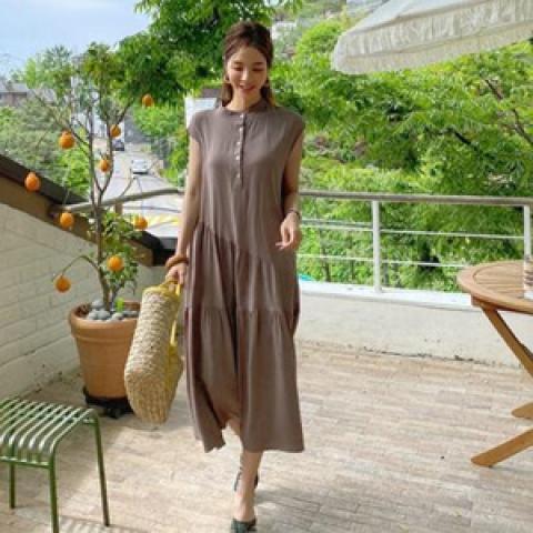 韓國新品﹗氣質開襟連身裙