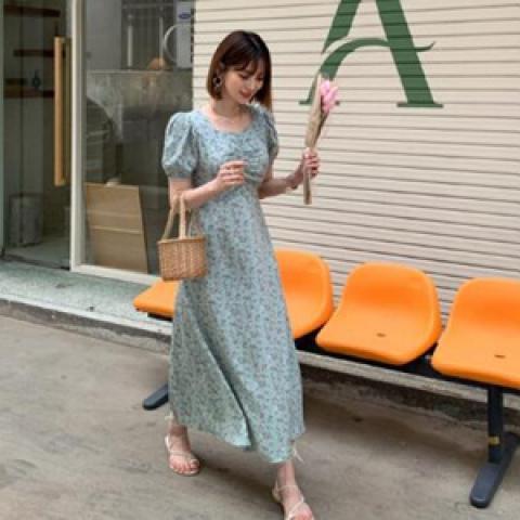 韓國新品﹗復古碎花連身裙