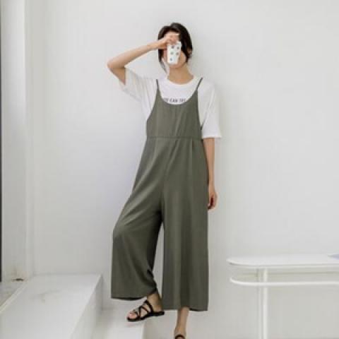 韓國新品﹗悠閒連體褲