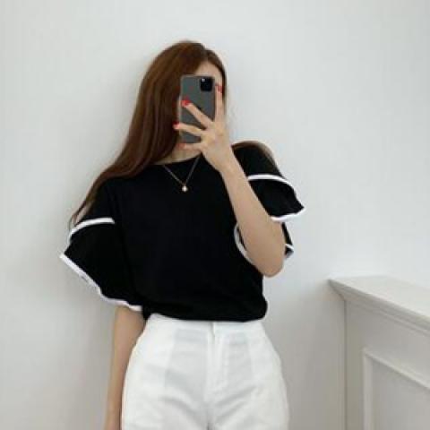 韓國新品﹗層疊袖子T-shirt