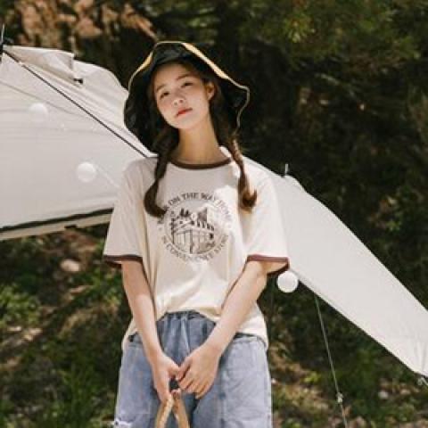 韓國新品﹗印花 T-Shirt